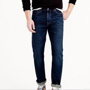 J.Crew 1040 Slim Straight Jeans in Dark Worn Wash